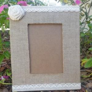 Burlap Picture Frame