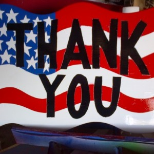 Thank You Flag Sign