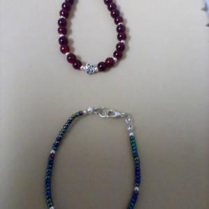 2 bracelets, 6 inch long