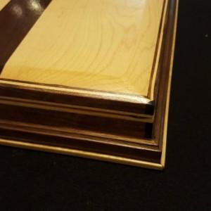Jewelry box made from maple, black walnut, and ebony