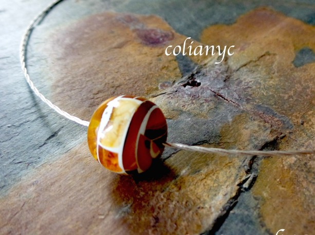 Baltic Amber , Sterling Silver Necklace. Modern Baltic Amber Jewelry.