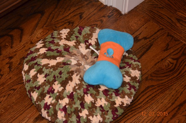 Circular Crochet Pet Bed