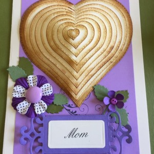 3-D heart mothers day card
