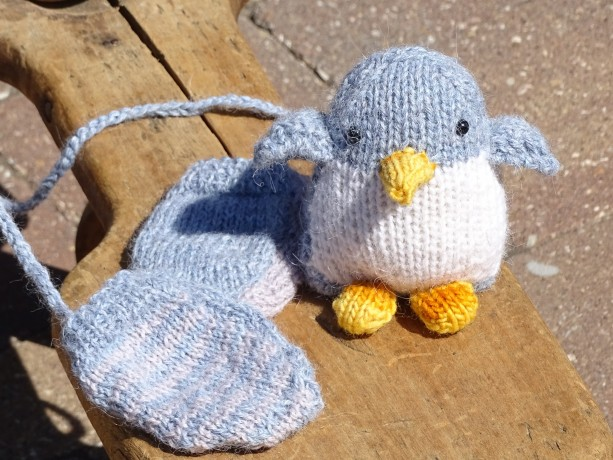 Alpaca Baby Mittens and Penguin, Winter Accessories, Organic Toy, Handmade