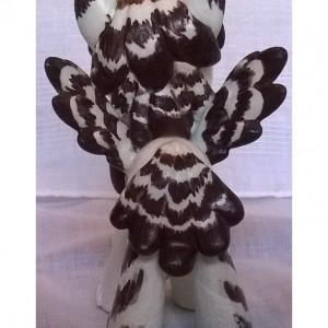 Custom OOAK My Little Pony Figure: Snowy Owl Griffon