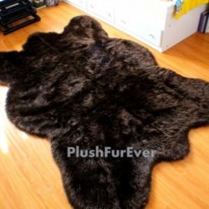 5' x 7' Big brown bear faux fur rug chocolate bearskin rug plush thick flokati rug New shag area rug shaggy rugs fur throw rugs