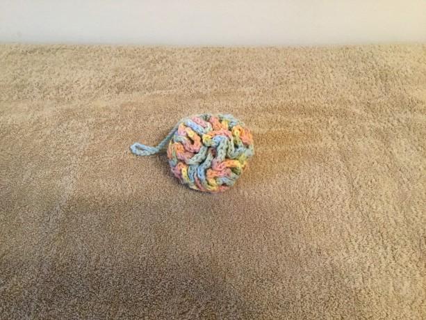 Crocheted cotton loofah