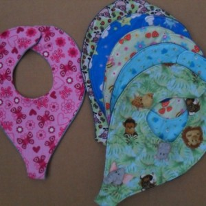 2 Binky Bibs for Baby, Mom and Grandma's Pacey Holder Pacifier Holder