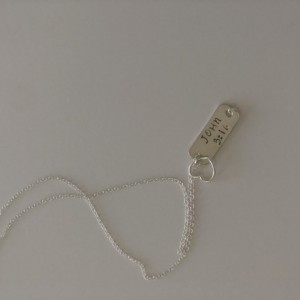 John 3:16 sterling silver necklace