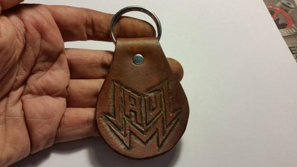 Handtooled Jauz Keychain Fob