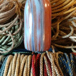 Brown wood design! A real Maine lobster buoy!
