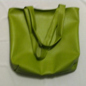 Faux Ostrich Tote in Green