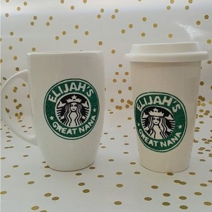 Custom Starbucks Inspired Coffe Mug