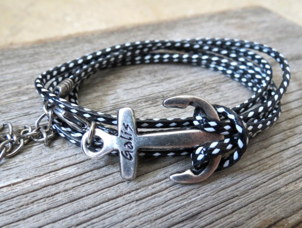 Man Anchor Bracelet - Man Nautical Bracelet - Sailor Bracelet - Man Bracelet - Man Jewelry - Man Gift - Boyfriend Gift - Husband Gift - Male