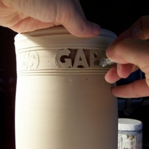 Custom Wedding Vase - Block Letters with Names & Date