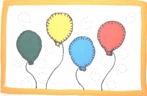 Celebrations Postcard:  Party Baloons