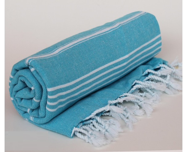 Turkish Turkish Peshtemal Towel Beach Towel Gym Towel Hammam Towel 100% cotton Blue