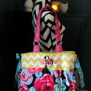 XL Custom Diaper Bag - Made To Order Baby Girl or Boy