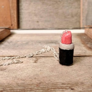 Lipstick Charm • Charm Necklace • Makeup Charm • Lipstick Necklace • Makeup necklace • Gift for girls • Gift for makeup lovers • Cute Gift