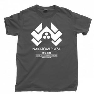 Die Hard Men's T Shirt, Nakatomi Plaza Bruce Willis John McClane Hans Gruber Christmas Movie Unisex Cotton Tee Shirt