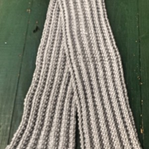 Gray Ribbed Scarf