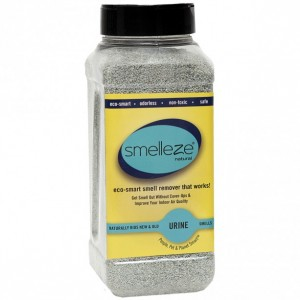 SMELLEZE Natural Urine Smell Removal Deodorizer: 2 lb. Granules Stops Pee Stench
