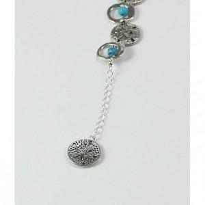 Sand Dollar and Turquoise Adjustable Bracelet
