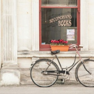 "Rustic Photography, Bike Photo, ""The Bookstore"""
