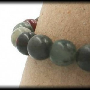 Bloodstone Solid Gemstone Bracelet for Reducing Irritability and Anger