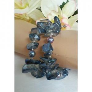 Océan Bleu ~ Chunky Beaded Double-Strand Bracelet ~ Beaded Chunky Bracelet ~ Bold Bracelet ~ Statement Bracelet ~ Gift for Her