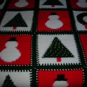 Festive Vintage Christmas Afghan