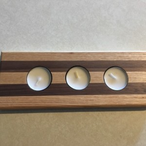 Oak Walnut Premium Wood   Tea Light Tealight Candle Holder