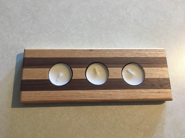 Oak Walnut Premium Wood | Tea Light Tealight Candle Holder