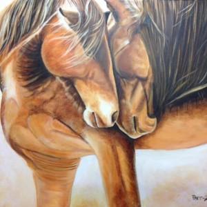 Wild Horses Acrylic painting 16x20