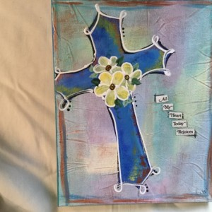 Cross painting on canvas