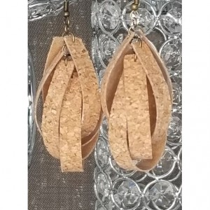 3D Teardrop - Cork Au Natural