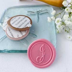 10 Pack: Script Initial Wax Seals, Self Adhesive