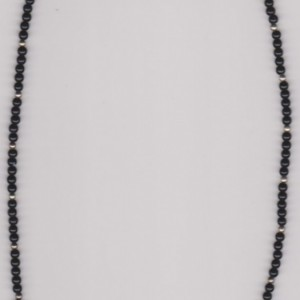 Midnight Silver Beaded Necklace
