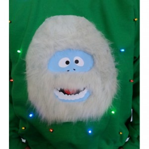 Yeti Abominable Snowman Light Up Ugly Christmas Sweater
