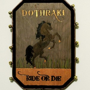 Dothraki sigil plaque.  Unique and handmade.