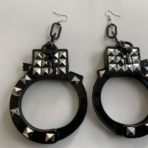 Studded handcuff earrings