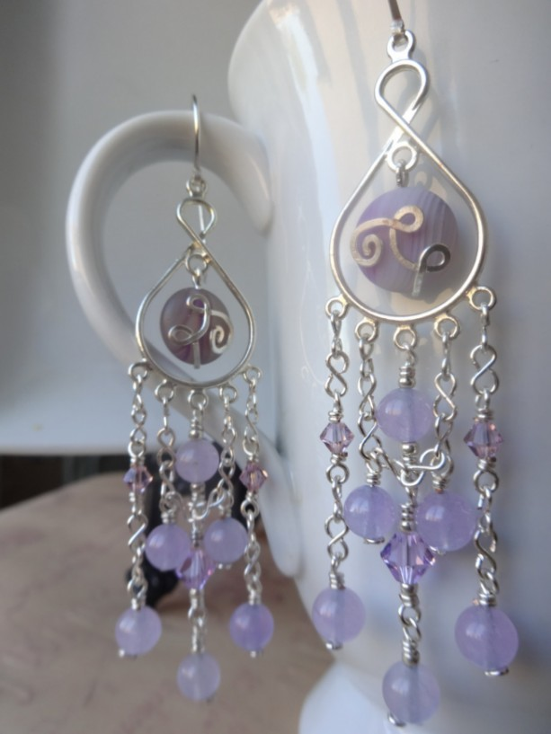 Lavender Chandelier Earrings