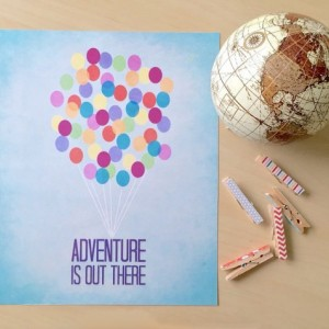 Pixar Up | Adventure Is Out There Art Print | Nursery Art Print | Disney Pixar Quote Poster | Carl and Ellie Quote