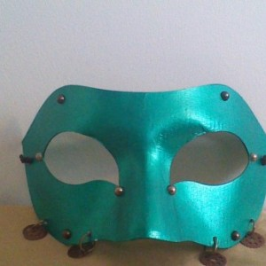 """Green Gears"" Cosplay/Masquerade Mask"
