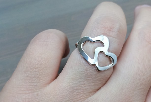 Dainty Hearts Ring. Silver Ring. Hearts Ring. Minimal Ring Design. Sweethearts Ring. Silver Jewelry. Gifts under $50