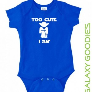 Too Cute Am I Yoda - Star Wars Baby Onesie