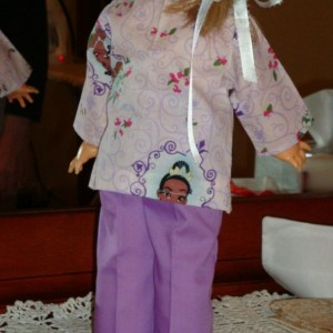 "Purple Delight Doll Clothes Outfit With Rhinestones For 18"" Doll"
