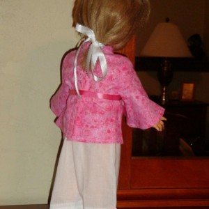 Hot Pink Hippie Doll Clothes Outfit Shirt and Pants