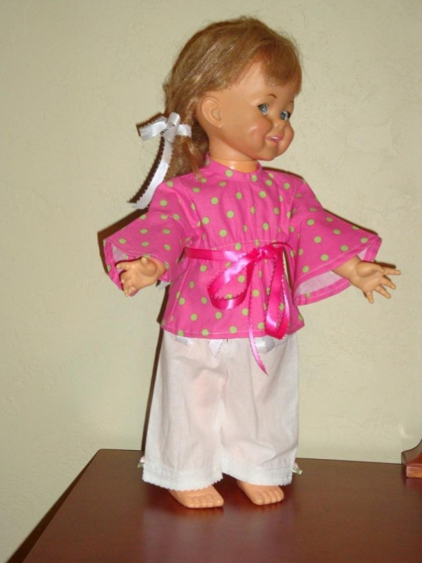 Sweet Polka Dot Hippie Doll Clothes Outfit