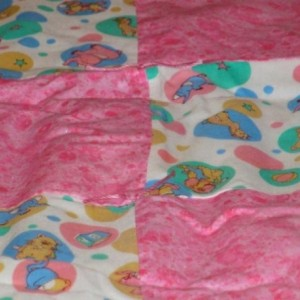 Ducks and Bears Oh My! Cotton Patchwork Quilt for Baby